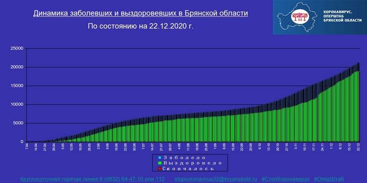 Коронавирус в Брянской области - ситуация на 22 декабря 2020