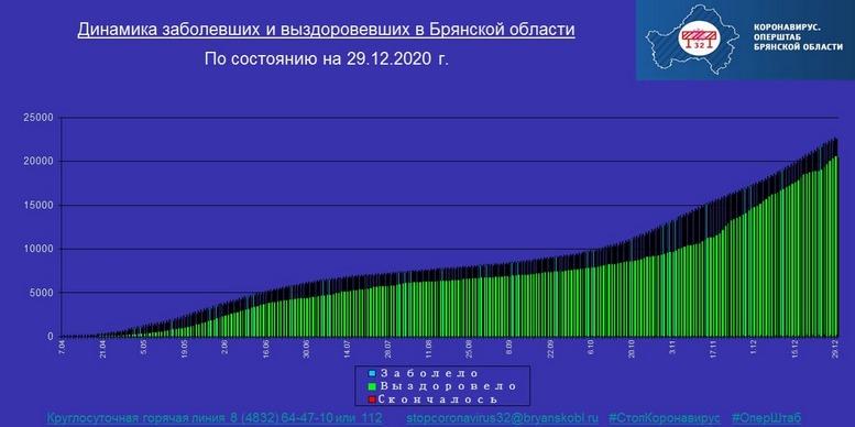 Коронавирус в Брянской области - ситуация на 29 декабря 2020