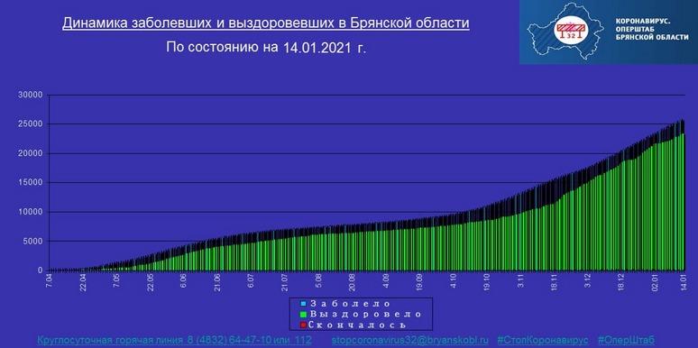 Коронавирус в Брянской области - ситуация на 14 января 2021