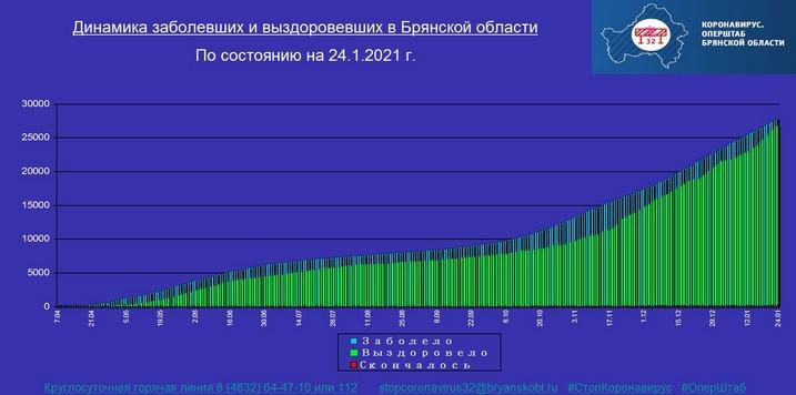 Коронавирус в Брянской области - ситуация на 24 января 2021