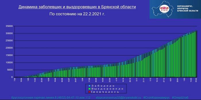 Коронавирус в Брянской области - ситуация на 22 февраля 2021