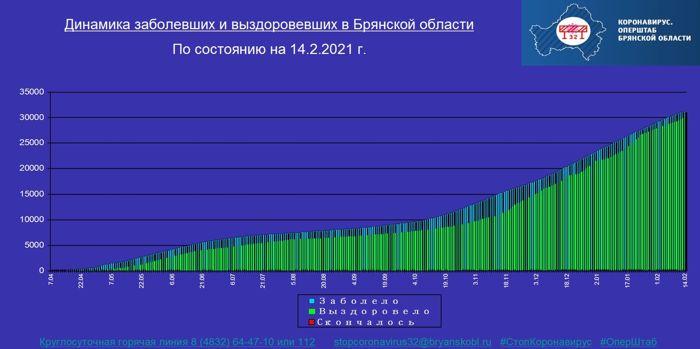 Коронавирус в Брянской области - ситуация на 14 февраля 2021
