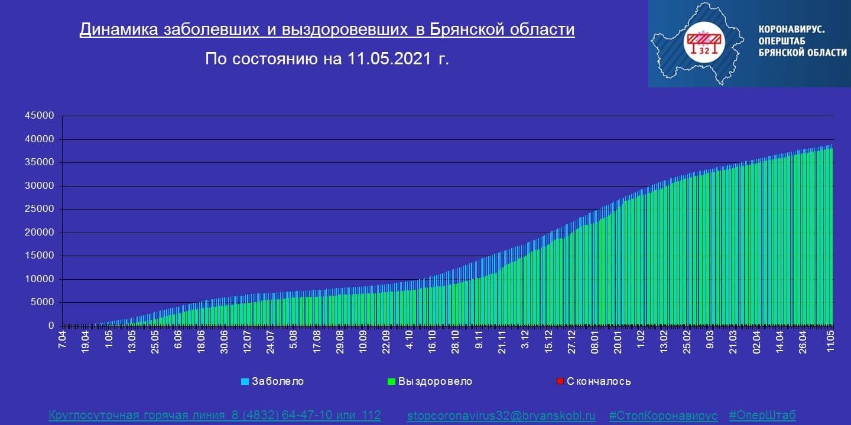 Коронавирус в Брянской области - ситуация на 11 мая 2021