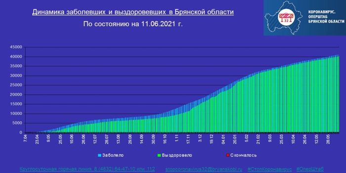 Коронавирус в Брянской области - ситуация на 11 июня 2021
