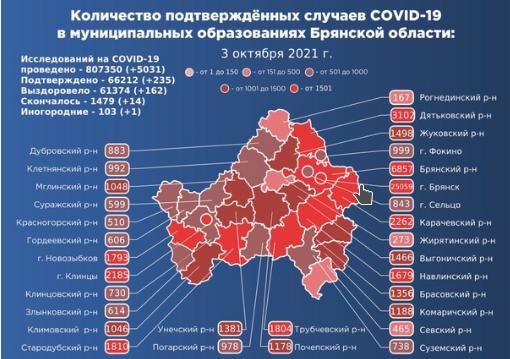 Коронавирус в Брянской области - ситуация на 3 октября 2021